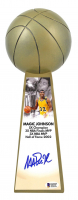 "Magic Johnson Signed Lakers 14"" Championship Basketball Trophy (Beckett COA) at PristineAuction.com"