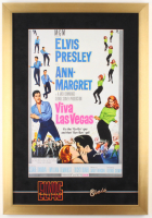 """Viva Las Vegas"" 17x24.5 Custom Framed Movie Poster Display with Vintage Elvis Pin & Patch at PristineAuction.com"