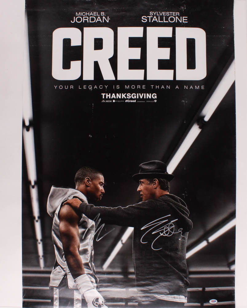 "Sylvester Stallone & Michael B. Jordan Signed ""Creed"" 27x40 Movie Poster (PSA Hologram) at PristineAuction.com"