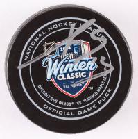 Pavel Datsyuk Signed 2014 Winter Classic Logo Hockey Puck (Beckett COA) at PristineAuction.com