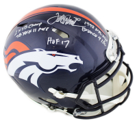 Terrell Davis Signed Denver Broncos Full-Size Authentic On-Field Speed Helmet with Multiple Inscriptions (Radtke COA) at PristineAuction.com