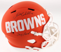 "Nick Chubb Signed Cleveland Browns Full-Size AMP Alternate Speed Helmet Inscribed ""Dawg Pound"" (JSA COA) at PristineAuction.com"
