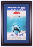"""Jaws"" 17.5x25.5 Custom Framed Movie Poster Display at PristineAuction.com"