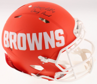 """Nick Chubb Signed Cleveland Browns Full-Size Authentic On-Field AMP Alternate Speed Helmet Inscribed """"Dawg Pound"""" (JSA COA) at PristineAuction.com"""