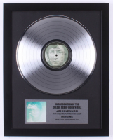 "John Lennon 15.75x19.75 Custom Framed Silver Plated ""Imagine"" Record Album Award Display at PristineAuction.com"