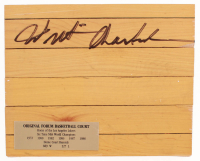 Wilt Chamberlain Signed 8x10 Wood Floorboard Piece (Beckett LOA) at PristineAuction.com