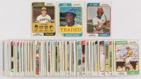 Lot of (100) 1974 Topps Baseball Cards with #60 Lou Brock, #489 Danny Murtaugh/Don Osborn/Don Leppert/Bill Mazeroski/Bob Skinner (Trimmed), #485T Felipe Alou at PristineAuction.com