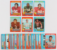 Lot of (99) 1971 Topps Football Cards with Buck Buchanan #13, Willie Wood #55, Bobby Bell #35, Jan Stenerud #61, Nick Buoiconti #147, Jim Hart #47 at PristineAuction.com