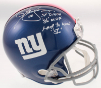 """Lawrence Taylor Signed Giants Full-Size Helmet Inscribed """"3X D.P.O.Y."""", """"86 MVP"""" & """"Last to Wear 56"""" (JSA COA) at PristineAuction.com"""