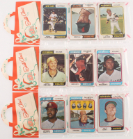 Lot of (3) 1974 Topps Baseball Unopened Christmas Rack Pack with (12) Cards at PristineAuction.com