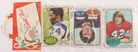 1976 Topps Football Unopened Christmas Rack Pack with (12) Cards with Jack Ham at PristineAuction.com