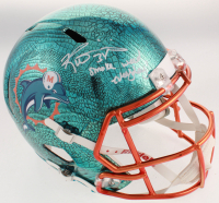 """Ricky Williams Signed Dolphins Full-Size Hydro-Dipped Speed Helmet Inscribed """"Smoke Weed Everyday"""" (JSA COA) at PristineAuction.com"""