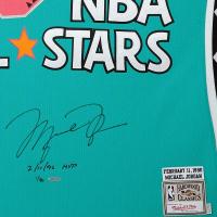 Michael Jordan Signed NBA All Stars LE Jerey (UDA COA) at PristineAuction.com