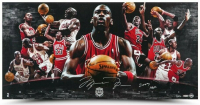 "Michael Jordan Signed Bulls 18x36 LE Photo Inscribed ""2009 HOF"" (UDA COA) at PristineAuction.com"