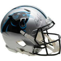 Christian McCaffrey Signed Panthers Full-Size Authentic On-Field Speed Helmet (Fanatics Hologram) at PristineAuction.com