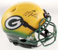Davante Adams Signed Packers Full-Size Authentic On-Field Hydro-Dipped Helmet (JSA Hologram) at PristineAuction.com