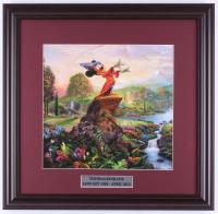 "Thomas Kinkade Walt Disney's ""The Sorcerer's Apprentice"" 18x18.5 Custom Framed Print Display at PristineAuction.com"
