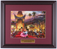 "Thomas Kinkade Walt Disney's ""Mickey & Minnie Mouse in Hollywood"" 16x18.5 Custom Framed Print Display at PristineAuction.com"
