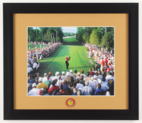 Tiger Woods 13x15 Custom Framed Photo Display with Masters Ball Marker at PristineAuction.com