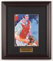"LeRoy Neiman ""Thurman Munson"" 13x15 Custom Framed Print Display at PristineAuction.com"