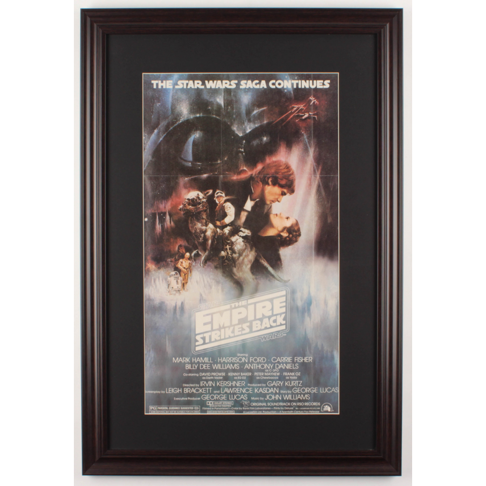 Star Wars Episode V The Empire Strikes Back 17 5x25 5 Custom Framed Movie Poster Print Display Pristine Auction