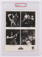 "Ronnie James Dio, Vivian Campbell, Jimmy Bain, & Vinny Appice Signed ""Dio"" 8x10 Photo (PSA Encapsulated) at PristineAuction.com"