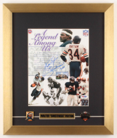 "Walter Payton Signed Bears 14x16.5 Custom Framed Photo Display Inscribed ""Sweetness"" & ""16,726"" with (2) Pins (PSA LOA) at PristineAuction.com"
