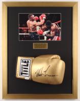 Mike Tyson Signed 17x22 Custom Framed Boxing Glove (JSA COA) at PristineAuction.com
