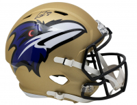 Lamar Jackson Signed Ravens Full-Size AMP Alternate Speed Helmet (JSA COA) at PristineAuction.com