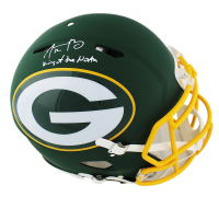"Aaron Rodgers Signed Green Bay Packers AMP Full-Size Authentic On-Field Helmet Inscribed ""King of the North"" (Fanatics Hologram) at PristineAuction.com"