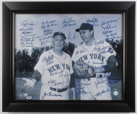 "Mets Greats 19.5x23.5 Custom Framed Photo Signed by (41) with Nolan Ryan, Tom Seaver, Al Weis Inscribed ""1st Mets Win"" & ""1st Met Pitcher"" (PSA Hologram & Ryan Hologram) at PristineAuction.com"