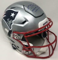 """Tom Brady Signed Patriots Full-Size Authentic On-Field SpeedFlex Helmet Inscribed """"Most QB SB Wins Ever """" (TriStar Hologram) at PristineAuction.com"""