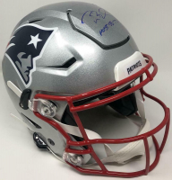 "Tom Brady Signed Patriots Full-Size Authentic On-Field SpeedFlex Helmet Inscribed ""Most SB TD's "" (TriStar Hologram) at PristineAuction.com"