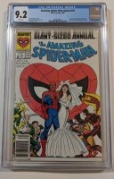 "1987 ""The Amazing Spider-Man"" Issue #21B Spider-Man Cover Variant Marvel Comic Book (CGC 9.2) at PristineAuction.com"