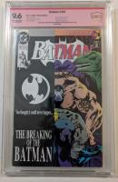 "Jim Aparo, Dick Giordano, Doug Moench & Kelly Jones Signed 1993 ""Batman"" Issue #497 DC Comic Book (CBCS 9.6) at PristineAuction.com"