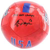 "Alex Morgan Signed USA Soccer Ball Inscribed ""B2B WWC Champs"" (Fanatics Hologram) at PristineAuction.com"