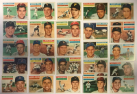 Lot of (27) 1956 Topps Baseball Cards with #180 Robin Roberts, #195 George Kell, #153 Frank Thomas, #243 Sherm Lollar at PristineAuction.com