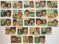 Lot of (24) 1956 Topps Baseball Cards with #294 Ernie Johnson, #293 Stu Miller, #309 D.Blasingame, #312 Andy Pafko at PristineAuction.com