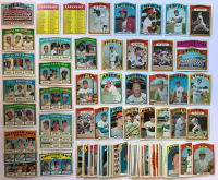 Lot of (100+) 1972 Topps Baseball Cards with #50 Willie Mays, #130 Bob Gibson, #87 Hank Aaron, #200 Lou Brock, #38 Carl Yastrzemski at PristineAuction.com