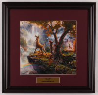 "Thomas Kinkade Walt Disney's ""Bambi"" 18x18.5 Custom Framed Print Display at PristineAuction.com"