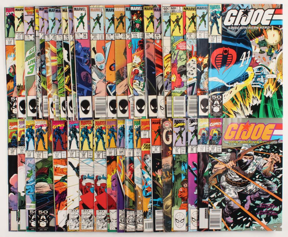 "Lot of (44) ""GI Joe"" Marvel Comic Books at PristineAuction.com"