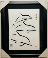 """Wyland Signed """"Faster, Higher, Stronger"""" 27x33 Custom Framed LE Lithograph (Wyland COA) at PristineAuction.com"""