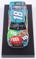Kyle Busch Signed NASCAR #18 M&M's Hazelnut Spread 2019 Camry - 1:24 Premium Action Diecast Car (PA COA) at PristineAuction.com