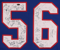 Jersey Team-Signed By (40+) With Phil Simms, Lawrence Taylor, Harry Carson (Steiner Hologram) at PristineAuction.com