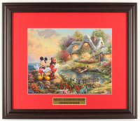 "Thomas Kinkade Walt Disney's ""Mickey & Minnie"" 16x18.5 Custom Framed Print Display at PristineAuction.com"