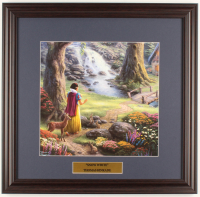 "Thomas Kinkade Walt Disney's ""Snow White"" 18x18.5 Custom Framed Print Display at PristineAuction.com"