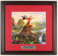 "Thomas Kinkade Walt Disney's ""The Sorcerer's Apprentice"" 18x18.5 Custom Framed Print Display at PristineAuction.com"