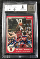 Michael Jordan Signed 1984-85 Star #101 XRC (BGS 8 & UDA COA) at PristineAuction.com