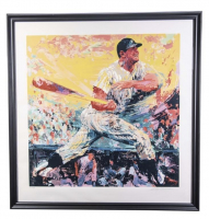 "LeRoy Neiman Signed LE ""Mickey Mantle"" 42x44 Custom Framed Artist Proof (Beckett LOA) at PristineAuction.com"