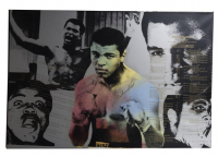 "Muhammad Ali Signed LE Steve Kaufman ""Muhammad Ali: The Greatest"" 30x46 Canvas (Beckett LOA) at PristineAuction.com"